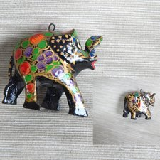 Soška - Slon maľovaný na zaves