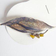 Brošňa - List plný/Tigrie oko
