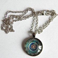 Prívesok - Mandala orientálna s retiazkou